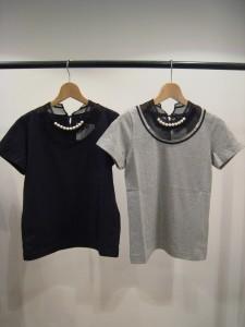 tricot:パール付きTシャツ