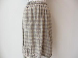 コムコム : スカート(生成×グレー) ¥33600