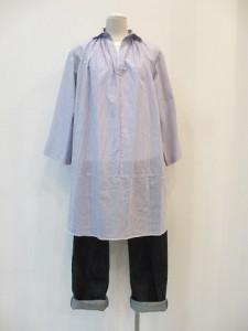 tricot : ブラウス ¥35700 (ブルー/白)
