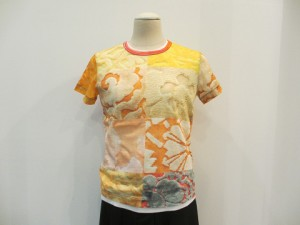 綿天竺パッチワークプリントTシャツ  (B柄 / size S/M)