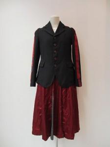 コムコム : スカート ¥31320 (エンジ×グレー)