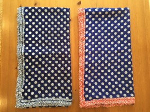 tricot ストール ¥21600 (紺/白×サックス) (ブルー/白×赤)