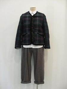 tricot : ジャケット ¥83160 (紺 / グリーン系)