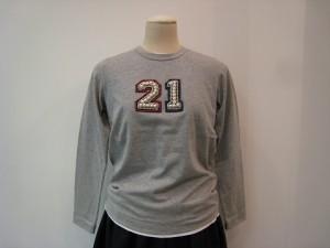 tricot : Tシャツ ¥36300 (TOPグレー×NO.21)