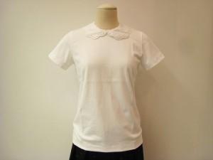 tricot : Tシャツ ¥23100 (白×白)